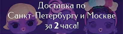 Доставка по СПб и Москве за 2 часа