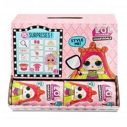 Куклы ЛОЛ с волосами 2 волна коробка 12 штук