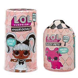 Набор ЛОЛ 5 серия кукла с волосами и питомец
